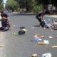KECELAKAAN: Kondisi 2 pengendara saat kecelakaan di TKP. (tik)