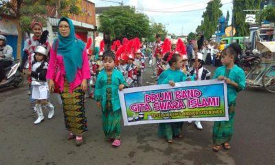 Sambut Hari Kartini, 196 Anak TK - KB Islam Nurul Anshor Situbondo Gelar Pawai