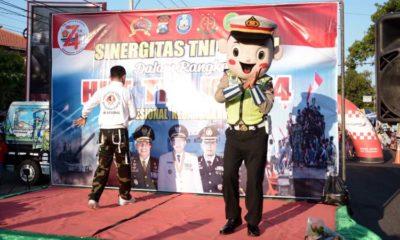 Olahraga Bersama Sinergitas TNI Polri di Area CFD Situbondo