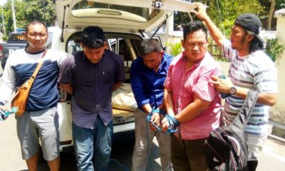 Tiga residivis asal Jateng saat digiring ke Mapolres.(imam)