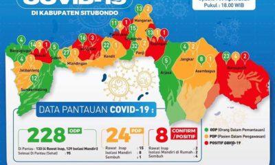 PETA SEBARAN COVID-19 DI KABUPATEN SITUBONDO. (im)