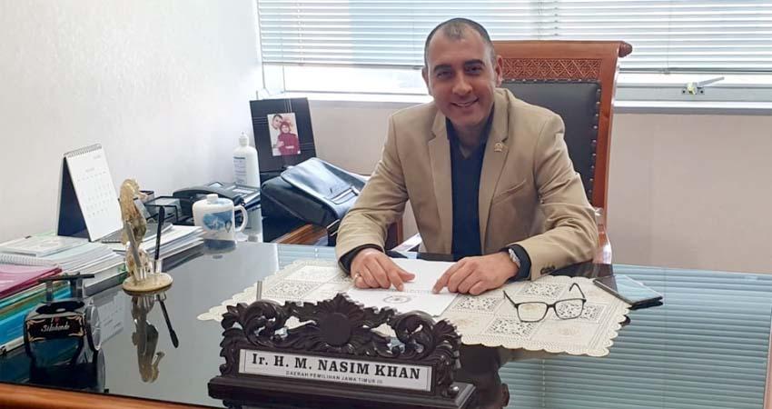 Ir H M Nasim Khan, Anggota DPR RI dari Fraksi PKB asal Situbondo. (im)