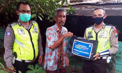 Satlantas Polres Situbondo, Lawan Covid-19, Peduli Korban Kecelakaan