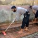 Kerja Bakti di Masjid Agung Al - Abror Situbondo. (her)