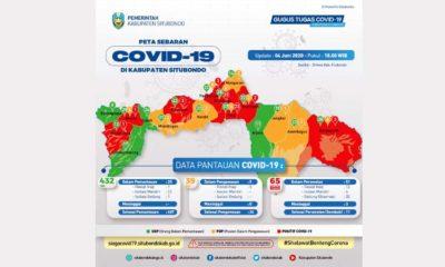Peta Sebaran Covid-19 Kabupaten Situbondo. (im)