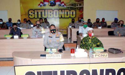 Acara Vicon yang dipimpin Wakapolri dan Silaturahmi Virtual Bersama Kyai Khos NU Se-Jatim. (im)
