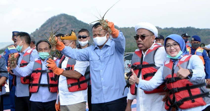 Kapolres Situbondo bersama Dandim 0823 Dampingi Kunjungan Kerja Menteri Kelautan dan Perikanan