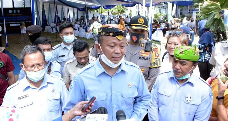 kunjungan Menteri Kelautan dan Perikanan (RI) Edhy Prabowo berjalan lancar. (her/im)