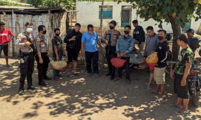 Barang bukti yang berhasil diamankan petugas Regu Patroli Sabhara Polres Situbondo. (her)