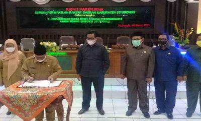 Bupati Situbondo Hadiri Rapat Paripurna Pengesahan Ranperda APBD Jadi Raperda Tahun 2021