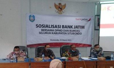 DPMD Situbondo Bersama Bank Jatim Gelar Sosialisasi Bumdes ke Kades