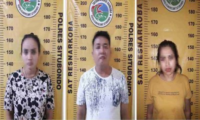 Dua Perempuan dan Seorang Pria Diciduk Polres Situbondo Karena Penyalahgunaan Narkoba
