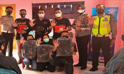 Satlantas Polres Situbondo Gandeng Katar Jatibanteng Sosialisasikan Keselamatan Berkendara dan Prokes