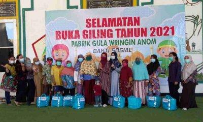 Selamatan Buka Giling PG Wringin Anom Berikan Sembako pada Warga